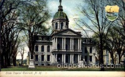 cap001275 - Concord, NH, New Hampshire United States State Capital Building Postcard Post Card