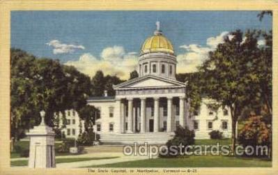 cap001279 - Montpelier, Vermont, New Hampshire, USA United States State Capital Building Postcard Post Card