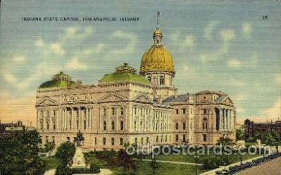 cap001280 - Indianapolis, Indiana, USA United States State Capital Building Postcard Post Card