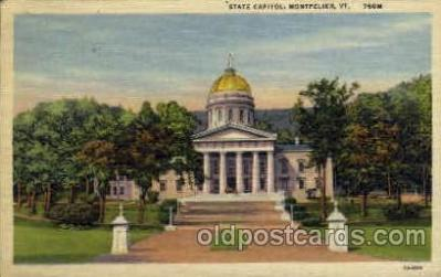 cap001289 - Montpelier, VT. United States State Capital Building Postcard Post Card