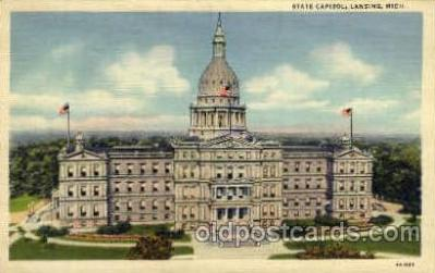 cap001291 - Lansing, Mich., Michigan, USA United States State Capital Building Postcard Post Card