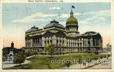 cap001303 - Indianapolis, Indiana, USA United States State Capital Building Postcard Post Card