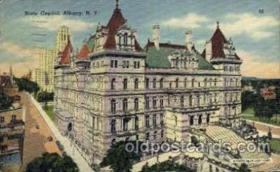 cap001307 - Albany, N.Y., USA United States State Capital Building Postcard Post Card