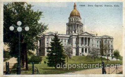 cap001320 - Denver, Colorado, USA United States State Capital Building Postcard Post Card