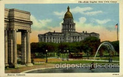 cap001321 - Denver, Colorado, USA United States State Capital Building Postcard Post Card
