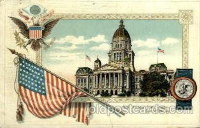 cap001327 - Springfield, ill, Illinois, USA  United States State Capital Building Postcard Post Card