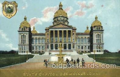 cap001337 - Des Moines, IOWA, USA United States State Capital Building Postcard Post Card
