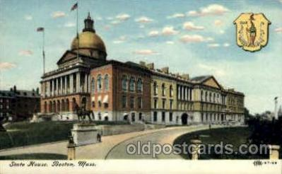 cap001348 - Boston, Mass, Massachusetts, USA United States State Capital Building Postcard Post Card
