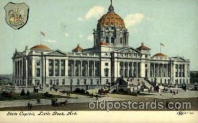 cap001358 - Little Rock, Arkansas, USA United States State Capital Building Postcard Post Card