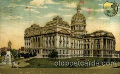 cap001366 - Indianapolis, Indiana, USA United States State Capital Building Postcard Post Card