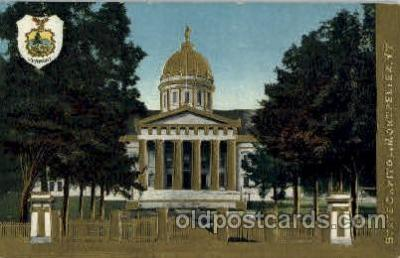 cap001367 - Montpelier, Vt, New Hamshir, USA United States State Capital Building Postcard Post Card