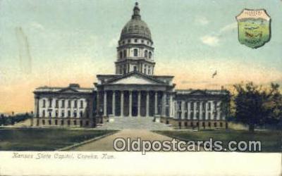 cap001378 - Topeka, Kansas, KS  State Capital, Capitals Postcard Post Card USA