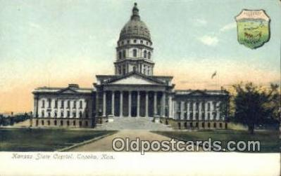 cap001381 - Topeka, Kansas, KS  State Capital, Capitals Postcard Post Card USA