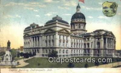 cap001386 - Indianapolis, Indiana, IN State Capital, Capitals Postcard Post Card USA