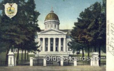 cap001390 - Montpelier, Vermont, VT State Capital, Capitals Postcard Post Card USA