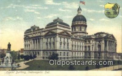 cap001394 - Indianapolis, Indiana, IN State Capital, Capitals Postcard Post Card USA