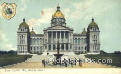 cap001399 - Des Moines, Iowa, IA State Capital, Capitals Postcard Post Card USA