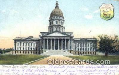 cap001404 - Topeka, Kansas, KS  State Capital, Capitals Postcard Post Card USA