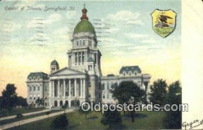 cap001406 - Springfield, Illinois, IL State Capital, Capitals Postcard Post Card USA
