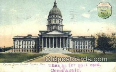 cap001410 - Topeka, Kansas, KS  State Capital, Capitals Postcard Post Card USA