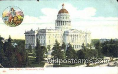 cap001424 - Sacramento, California, CA  State Capital, Capitals Postcard Post Card USA