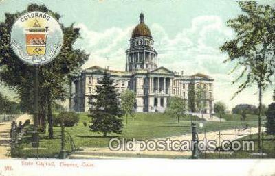 cap001425 - Denver, Colorado, CO State Capital, Capitals Postcard Post Card USA