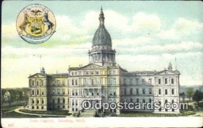 cap001428 - Lansing, Michigan, MI  State Capital, Capitals Postcard Post Card USA