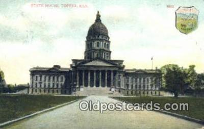 cap001438 - Topeka, Kansas, KS  State Capital, Capitals Postcard Post Card USA