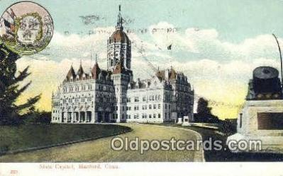 cap001443 - Hartford, Connecticut, CT State Capital, Capitals Postcard Post Card USA