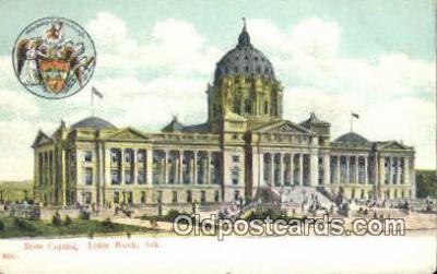 cap001446 - Little Rock, Arkansas, AR State Capital, Capitals Postcard Post Card USA