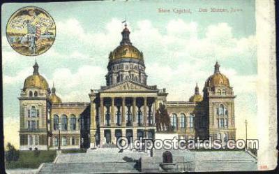 cap001451 - Des Moines, Iowa, IA State Capital, Capitals Postcard Post Card USA