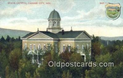 cap001459 - Carson City, Nevada, NV State Capital, Capitals Postcard Post Card USA