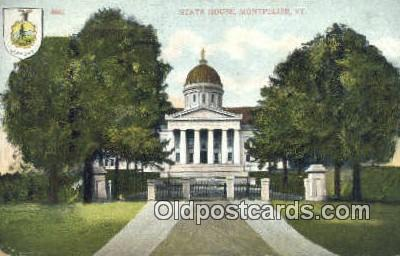 cap001464 - Montpelier, Vermont, VT State Capital, Capitals Postcard Post Card USA