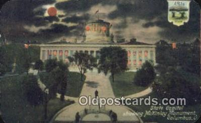 cap001474 - Hold to Light, Columbus, Ohio, OH  State Capital, Capitals Postcard Post Card USA
