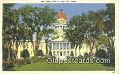 cap001492 - Augusta, Maine, ME State Capital, Capitals Postcard Post Card USA