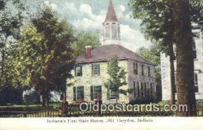 cap001494 - Corydon, Indiana, ID State Capital, Capitals Postcard Post Card USA