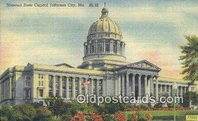 cap001521 - Jefferson City, Missouri , MO State Capital, Capitals Postcard Post Card USA