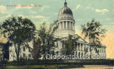 cap001526 - Augusta, Maine, ME State Capital, Capitals Postcard Post Card USA