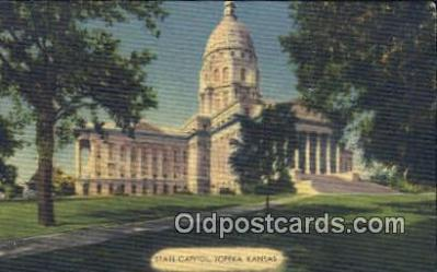 cap001531 - Topeka, Kansas, KS  State Capital, Capitals Postcard Post Card USA