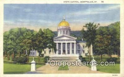 cap001539 - Montpelier, Vermont, VT State Capital, Capitals Postcard Post Card USA