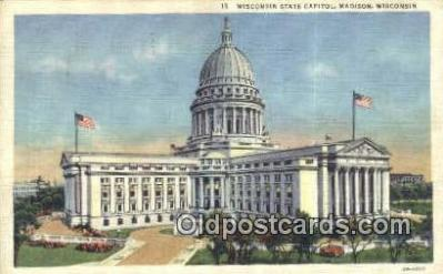 cap001546 - Madison, Wisconsin, WI State Capital, Capitals Postcard Post Card USA