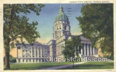 cap001549 - Topeka, Kansas, KS  State Capital, Capitals Postcard Post Card USA