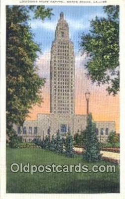 cap001555 - Baton Rouge, Louisiana, LA  State Capital, Capitals Postcard Post Card USA