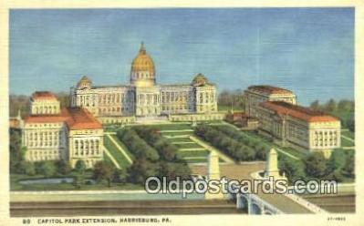 cap001558 - Harrisburg, Pennsylvania, PA  State Capital, Capitals Postcard Post Card USA