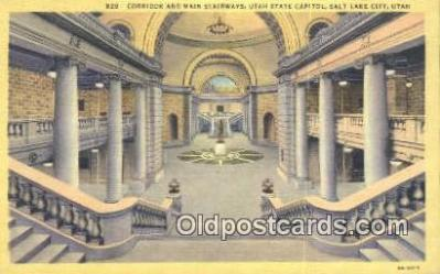 cap001562 - Salt Lake City, Utah, UT  State Capital, Capitals Postcard Post Card USA