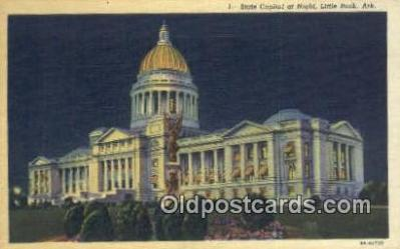 cap001578 - Little Rock, Arkansas, AR State Capital, Capitals Postcard Post Card USA