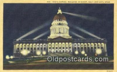 cap001588 - Salt Lake City, Utah, UT  State Capital, Capitals Postcard Post Card USA