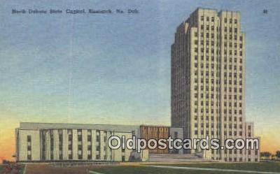 cap001592 - Bismarck, North Dakota, ND State Capital, Capitals Postcard Post Card USA