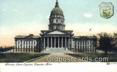 cap001602 - Topeka, Kansas, KS  State Capital, Capitals Postcard Post Card USA