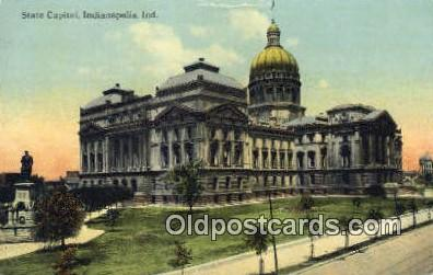 cap001604 - Indianapolis, Indiana, IN State Capital, Capitals Postcard Post Card USA
